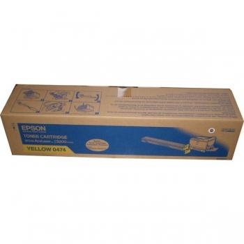 Cartus Toner Epson C13S050474 Yellow 14000 Pagini for Aculaser C9200, C9200D3TNC, C9200DN, C9200DTN, C9200N, C9200TN