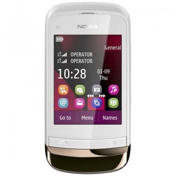 Telefon Mobil Nokia C2-03 Golden White Dual Sim Touch NOKC2-03GSMWHT