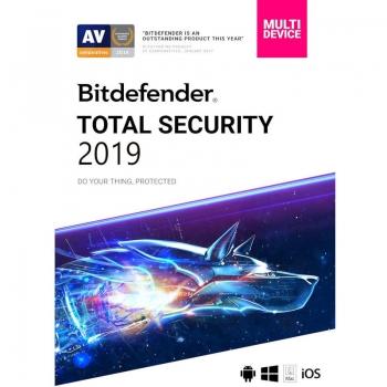 BitdefenderTotal Security 2019 3 utilizatori 1 an EB11911003