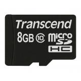 Card Memorie MicroSDHC Transcend 8GB Clasa 10 TS8GUSDC10