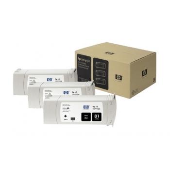 Pachet Cartus Cerneala HP Nr. 81 Dye Black 3 Bucati 680 ml for Designjet 5000/UV, Designjet 5500 42', Designjet 5500 60', Designjet 5500 PS 42', Designjet 5500 PS 60' C5066A