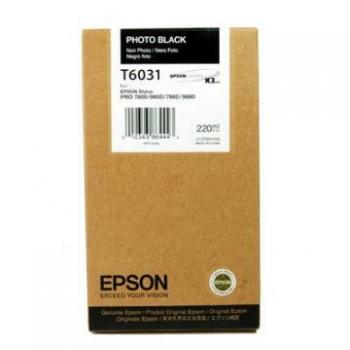 Cartus Cerneala Epson T6031 Photo Black 220ml for Stylus Pro 7800, Stylus Pro 7880, Stylus Pro 9800, Stylus Pro 9880 C13T603100