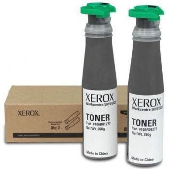 Pachet Cartus Toner Xerox 106R01277 Black 2 Bucati 2x6300 Pagini for WorkCentre 5016, 5020B, 5020DB, 5020DN