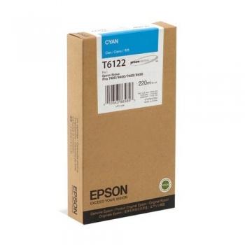Cartus Cerneala Epson T6122 Cyan 220ml for Stylus Pro 7400, Stylus Pro 7450, Stylus Pro 9400, Stylus Pro 9450 C13T612200