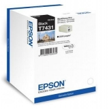 EPSON T7431, INK CARTRIDGE BLACK FOR WP-M400/M500, C13T74314010
