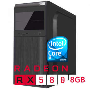 Sistem PC Bocris Intel Core i5-9400F Quad Core up to 4.1GHz RAM 8GB DDR4 HDD 1TB Radeon RX 580 8GB