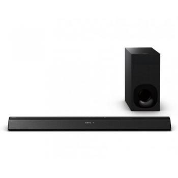 Boxa Sony Soundbar HT-CT380, 300 W, wireless subwoofer, 2.1 channel, receptie bluetooth cu NFC, HDMI, ClearAudio+, Impedanta 4 ohmi, BRAVIA Sync, greutate 2.4 kg, dimensiuni 90 cm x 5.1 cm x 11.7 cm, negru