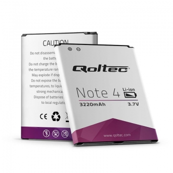 QOLTEC Battery for Samsung Galaxy Note 4, 3220mAh