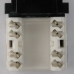 Netrack Keystone Jack module 1xRJ45 8p8c UTP Cat5e LSA with clamp, white