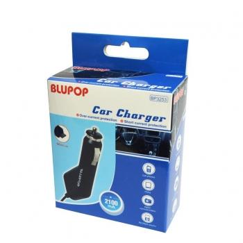BLUPOP Incarcator de masina micro USB, 2,1A, DC 12-24V BP3253 negru