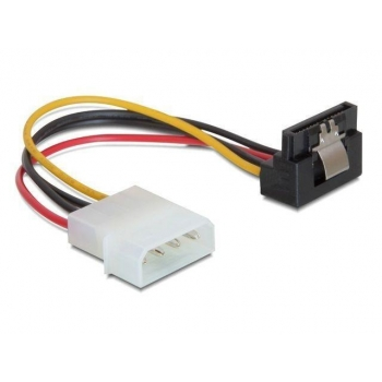 Delock Cable Power SATA HDD with metal clip > 4pin male -  angled