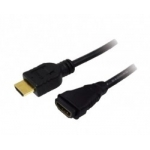 LOGILINK - Cablu HDMI- HDMI,1.4,tata/mama, aurit, lung de 2 m