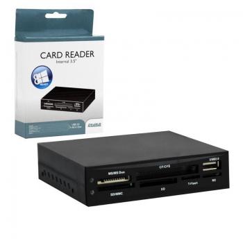 Cititor carduri flash 4World 24in1 intern 3.5'', negru