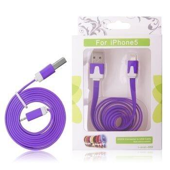 GT cablu USB iPhone 5 violet