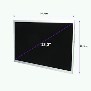 Qoltec LED 13.3'' 1366*768 GLOSSY - 40Pini, GRADE A+