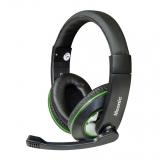 Casti Vakoss MH535KE cu microfon si control de volum black-green