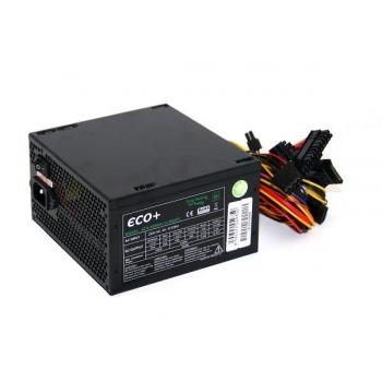 Sursa Eurocase ECO+80 500W 1x PCI-E 3x SATA 3x Molex 1x Floppy PFC Activ Certificare 80+ ATX-500WA-14-85(87)