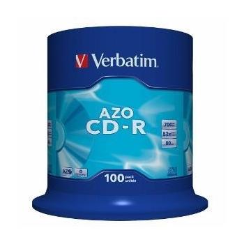 Verbatim CD-R[ cake box 100 | 700MB | 52x | Crystal | DataLife+ AZO ]