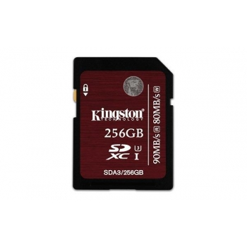 Memory card Kingston SDXC 256GB UHS1 CL3, Speed 90/80MBs