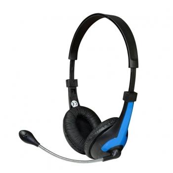 Casti Vakoss MH538KB cu microfon si control de volum black-blue
