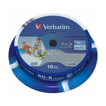 Verbatim BluRay BD-R [ spindle 10 | 25GB | 6x| WIDE PRINTABLE ]