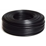 Gembird flat telephone cable stranded wire 100m, black