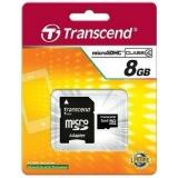 Card Memorie MicroSDHC Transcend 8GB Clasa 4 TS8GUSDHC4