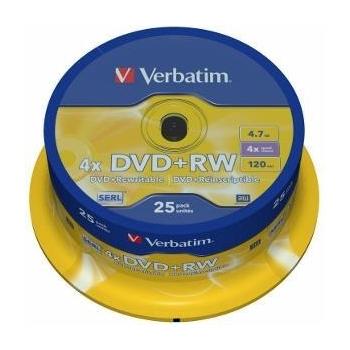 Verbatim DVD+RW [ 4.7GB, 4x, spindle, 25 bucati ]