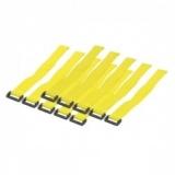 LOGILINK - Organizator cabluri cu banda velcro, galben