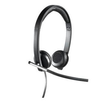 Casti Logitech H650e cu microfon si control de volum USB 981-000519