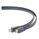 Gembird HDMI V1.4 male-male flat cable with gold-plated connectors 1m, black