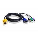 ATEN KVM Cablu 3in1 SPHD (HDB15-SVGA, USB, PS/2, PS/2) - 1.8m