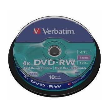 Verbatim DVD-RW [  4.7GB, 4x, spindle, 10 bucati ]