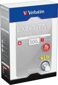 Verbatim hard disk portabil Executive II, USB 3.0 2,5'' 500GB, extern, argintiu