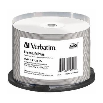 Verbatim DVD-R [ spindle 50 | 4.7GB | 16x | pentru imprimare wide ]