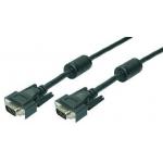 LOGILINK - Cablu  VGA 2x Ferita HQ, lungime 5 m
