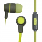 VAKOSS Stereo Earphones Silicone with Microphone / Volume Control SK-214G gri