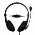Casti Vakoss MH538KR cu microfon si control de volum black-red
