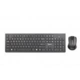 Gembird Wireless desktop set, slim, US layout, black, chocolate type keys