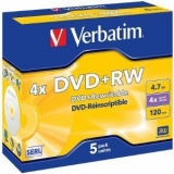 Verbatim DVD+RW [  4.7GB, 4x, jewel case, 5 bucati ]