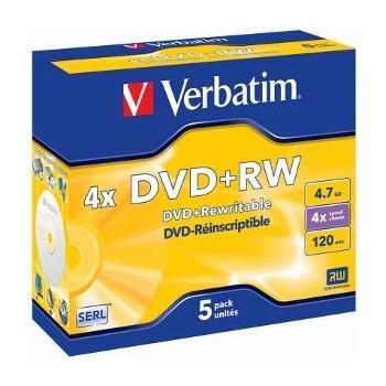 Verbatim DVD+RW [  4.7GB, 4x, jewel case, 5 bucati ]
