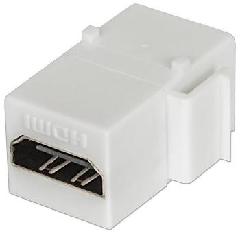 Intellinet HDMI inline coupler, Keystone type, F/F, white