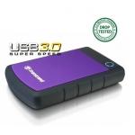 Transcend HDD extern 25H3P 2.5'' 1TB USB3, sistem cu tripla protectie la soc
