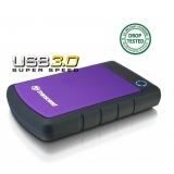 Transcend HDD extern 25H3P 2.5'' 500GB USB3, sistem cu tripla protectie la soc