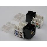 Netrack Keystone Jack module 1xRJ45 8p8c UTP Cat5e LSA with clamp, white