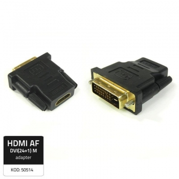 Qoltec Adapter HDMI Female/ DVI (24+1) Male