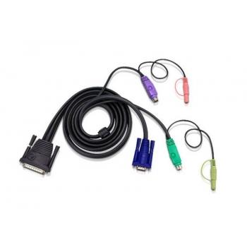 ATEN Cablu (25M/SVGA, PS/2, PS/2, Audio) - 1.8m