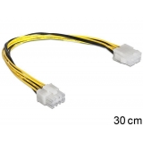 Delock Cable Power 8 pin EPS Extension male > female, 30cm