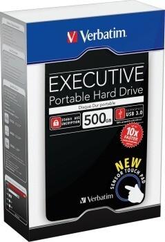Verbatim hard disk portabil Executive II, USB 3.0 2,5'' 500GB, extern, negru