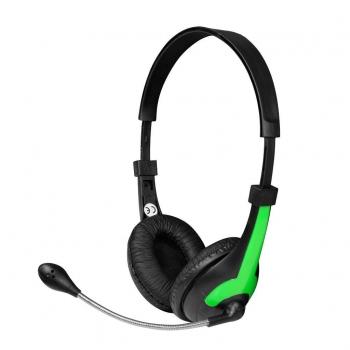 Casti Vakoss MH538KG cu microfon si control de volum black-green